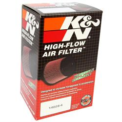 K&N SN-2520 Powersports Air Filter, 5in Tall, Round Tapered