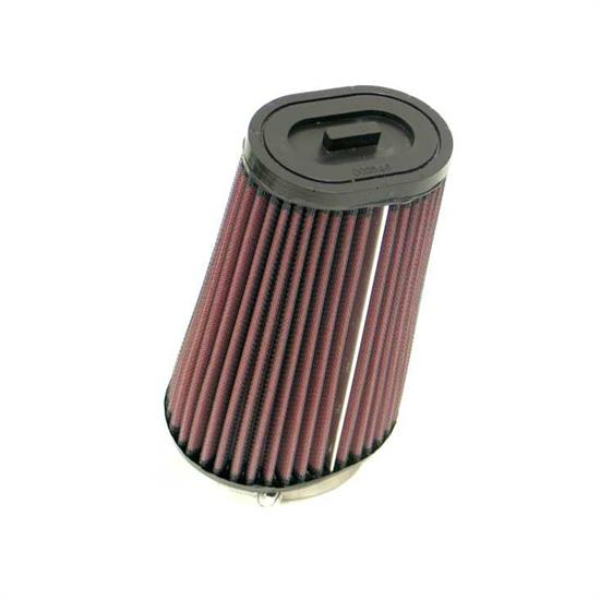 K&N SN-2560 Powersports Air Filter, 7in Tall, Oval Straight