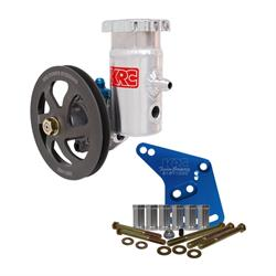 KRC Ford 351W Aluminum Power Steering Pump Kit-6 V-Belt Pulley-7.2 cc