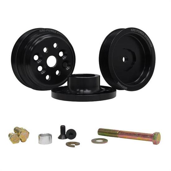 KRC 36400000 Serpentine Pulley Kit, SB Chevy