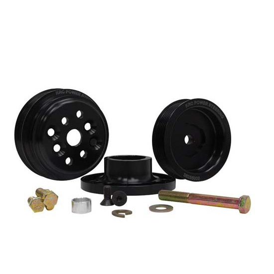 KRC Power Steering KRC36401500 Pro Series Serpentine Pully Kit, SBC