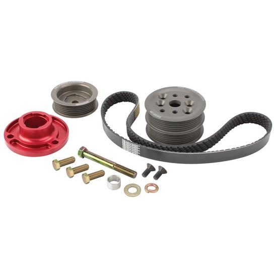 KRC Chevy Modular Serpentine Pulley Kit, 30% Reduction, Head Mount Pump