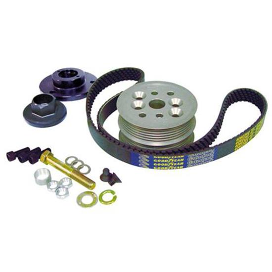 KRC Chevy Modular Serpentine Pulley Kit, 15% Reduction, Head Mount Pump