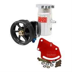 KRC 58020110 Cast Iron SBC Pump Kit, Serpentine Head Mount BoltOn Tank