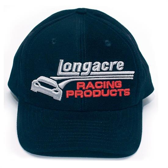 Longacre 11655 Black Twill Hat, Embroidered Logo, Each