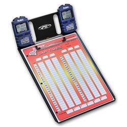 Longacre 22321 2 Car Stopwatch Clipboard w/Robic SC 606W Timer