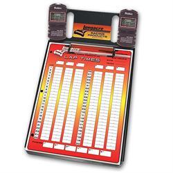 Longacre 22324 2 Car Stopwatch Clipboard w/Robic SC 505W Timer