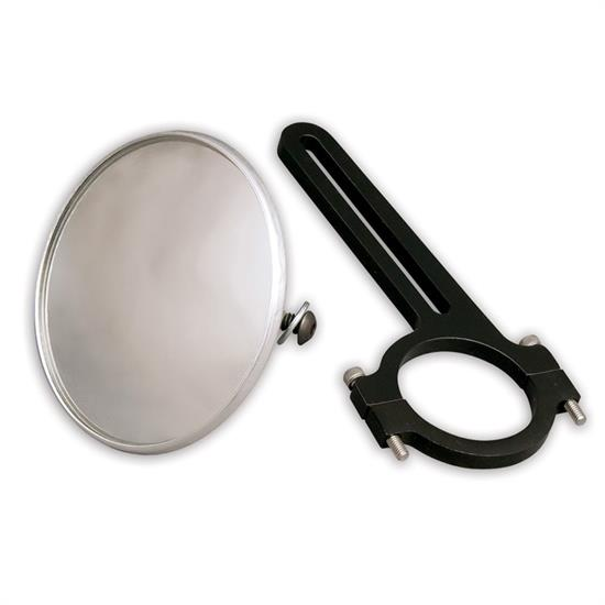 Longacre 52-22548 Spot Mirror, Clamp On, For 1-3/4 Inch Roll Bar