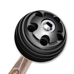 Longacre 22601 Billet Aluminum Shifter Ball, 3/8-16 Thread, 2 In Dia.