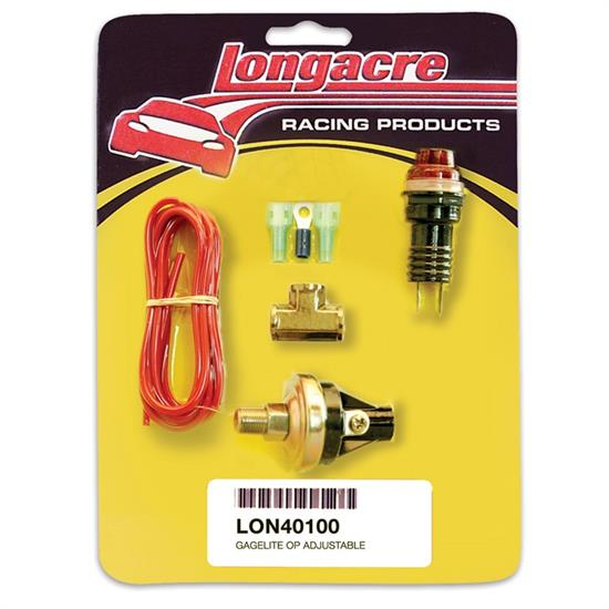 Longacre 52-40100 Gagelites Warning Light Kit, 15-20 psi Oil