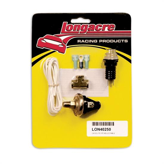 Longacre 52-40250 Gagelites Warning Light Kit, 2-7 Psi Adj. 1/8""