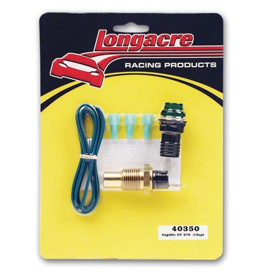 Longacre 40350 Gagelites Warning Light Kit, 270 Deg Oil Temp 1/2 NPT