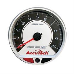 Longacre 44381 AccuTech SMi 4-1/2 Inch Memory Tachometer, Silver Face