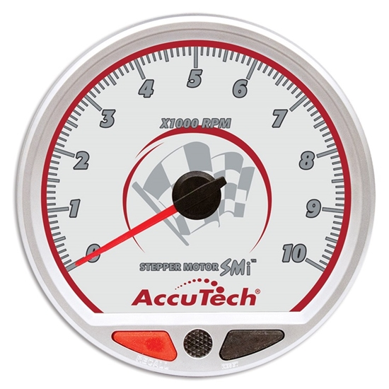 Longacre 44382 AccuTech Stepper Motor Memory tachometer, Silver