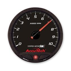 Longacre 44387 AccuTech Stepper Motor Memory Tachometer, Black