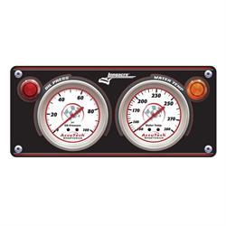 Longacre 44430 Sportsman Aluminum 2 Gauge Panel, OP, WT