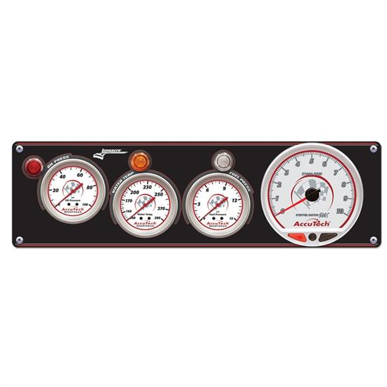 Longacre 52-44443 3 Gauge Panel w/ AccuTech SMi Tach - OP,WT,FP
