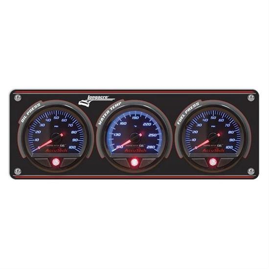Longacre® 52-44465 3 Gauge Panel w/ AccuTech® SMi Gauges