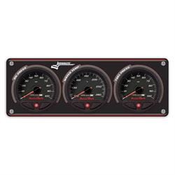 Longacre 44465 3 Gauge Panel with AccuTech SMi Gauges - OP,WT,FP