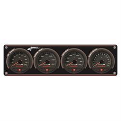 Longacre 44467 AccuTech SMi Aluminum 4 Gauge Panel, OP/WT/OT/FP