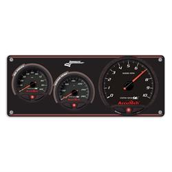 Longacre 44470 2 Gauge Panel with AccuTech SMi Gauges & Tach - OP,WT