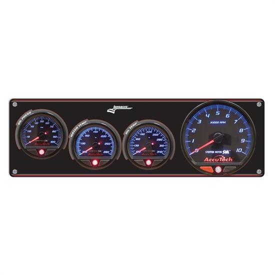 Longacre 52-44471 3 Gauge Panel with AccuTech SMi Gauges