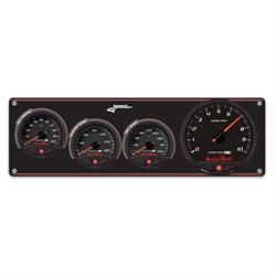 Longacre 44471 3 Gauge Panel with AccuTech SMi Gauges & Tach - OP,WT,OT