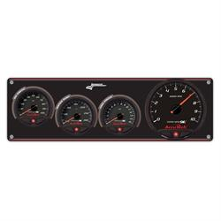Longacre 44473 3 Gauge Panel with AccuTech SMi Gauges & Tach - OP,WT,FP