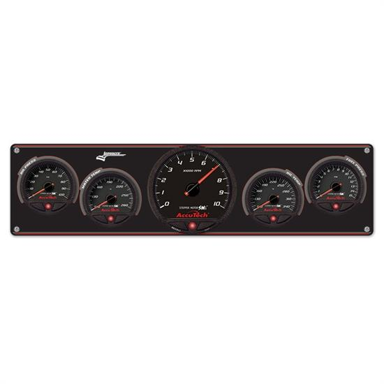 Longacre 44475 4 Gauge Panel with AccuTech SMi Gauges & Tach - OP,WT,OT,FP