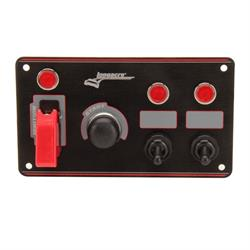 Longacre 44867 Aluminum Flip-up Ignition Switch Panel, 2 Switch