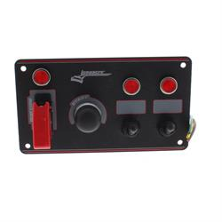Longacre 44867 Aluminum Flip-up Ignition Switch Panel, 2 Switch