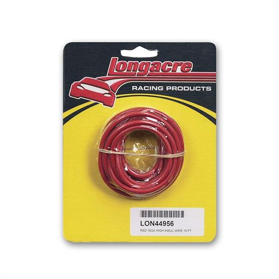Longacre 52-44956 16 gauge HD electrical wire, Red