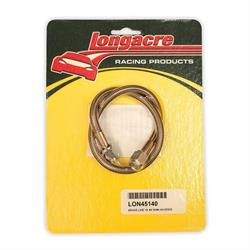Longacre® 52-45140 Brake line - 18 in #4 w/ #4 AN both ends