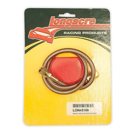 Longacre 45160 Brake line - 24 in. #4 w/ #4 AN both ends