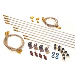Longacre 45216 Complete Brake Line Kit - #4 AN