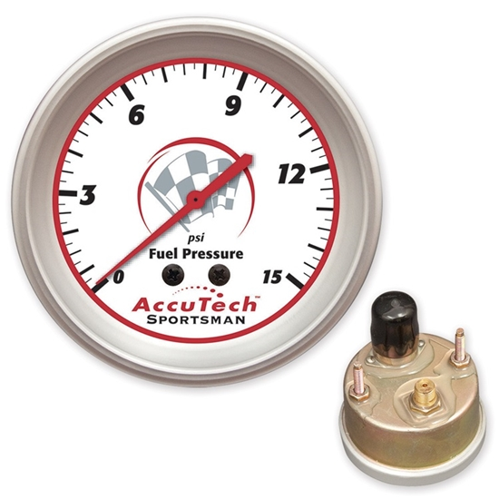 Longacre 46509 AccuTech Fuel Pressure Gauge, Silicone Sealed
