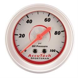 Longacre 46511 AccuTech Sportsman Mechanical Oil Pressure Gauge