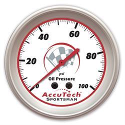 Longacre 46512 AccuTech Sportsman 2015 Aluminum Oil Pressure Gauge