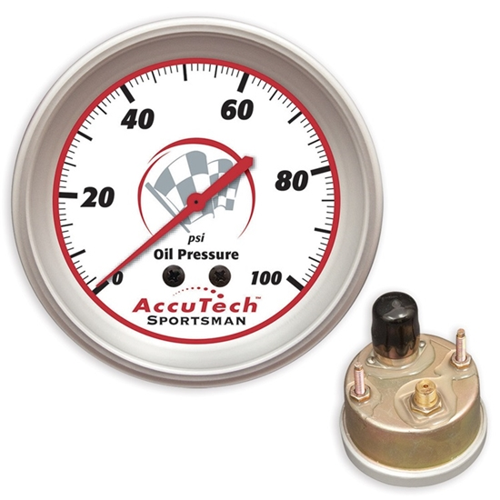 Longacre 46514 AccuTech Oil Pressure Gauge, Silicone Sealed