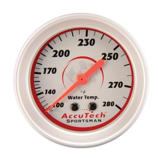 Longacre 46516 AccuTech Sportsman Mechanical Water Temp Gauge