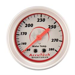 Longacre 46516 AccuTech Sportsman Mechanical Water Temp Gauge