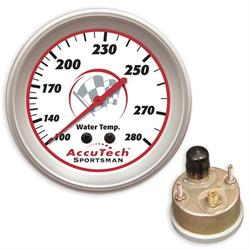Longacre 46519 Accutech Water Temperature Gauge, Silicone Sealed