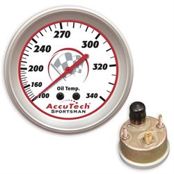 Longacre® 52-46524 AccuTech® Oil Temp. Gauge, Sealed