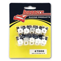 Longacre 47200 Adel line clamps - 9/16 in. ID fuel line (pack of 10)