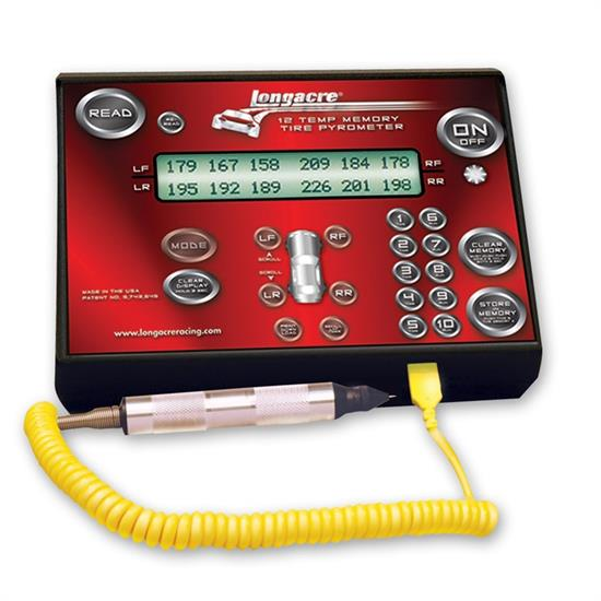Longacre 52-50690 Deluxe Memory Tire Pyrometer - Def.F