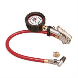 Longacre 52008 Liquid Filled 21/2 GID Quick Fill Tire Gauge 0-60 psi