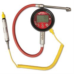 Longacre 53030 Temp Compensated Tire Pressure Gauge w/ Foot Valve 0-150