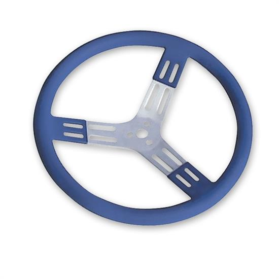Longacre 56803 15 in. Aluminum Steering Wheel. Smooth, Blue