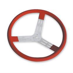 Longacre 56805 15 in. Aluminum Steering Wheel. Smooth, Red