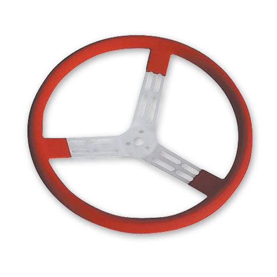 Longacre 56815 17 in. Aluminum Steering Wheel. Smooth, Red